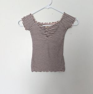 🌸 Hollister Striped Top